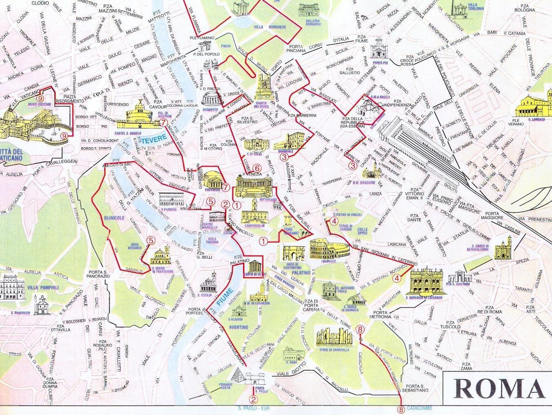 Cartina Roma Vaticano.Mappa Di Roma Interattiva