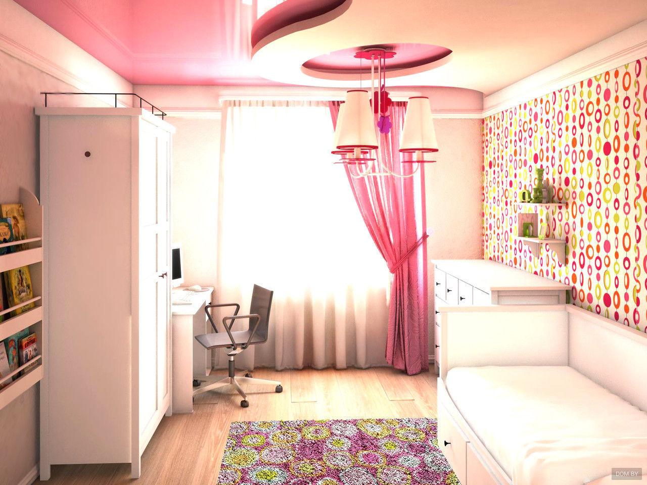 Дизайн потолка в детской - несколько оригинальных решений.