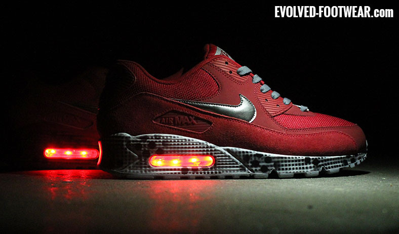 767f5c99268c light up shoes - Air Max 90 Grid Blur