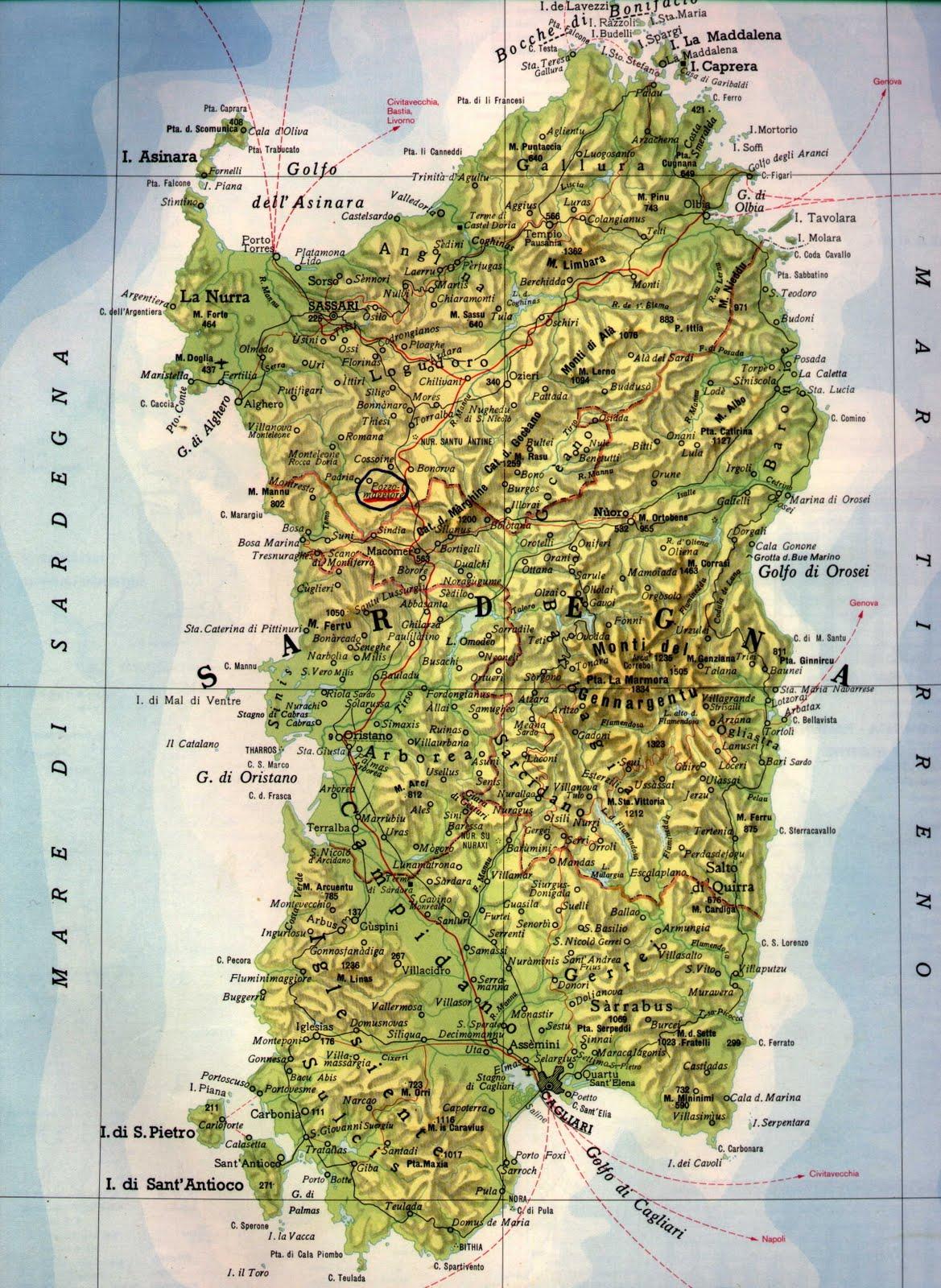 Cartina Montuosa Sardegna.Il Campidano E La Piu Vasta Pianura Della Sardegna E Coll