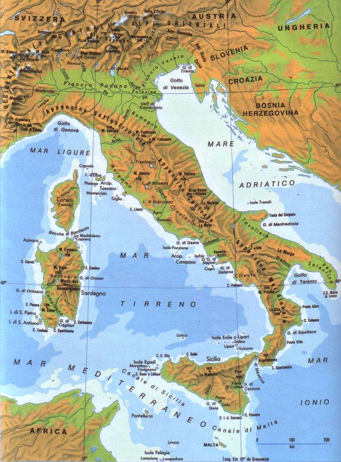 Cartina Geografica Dell Italia Fisica E Politica.Mappe Di Sintesi Per Lo Studio Della Geografia Classi I Ii