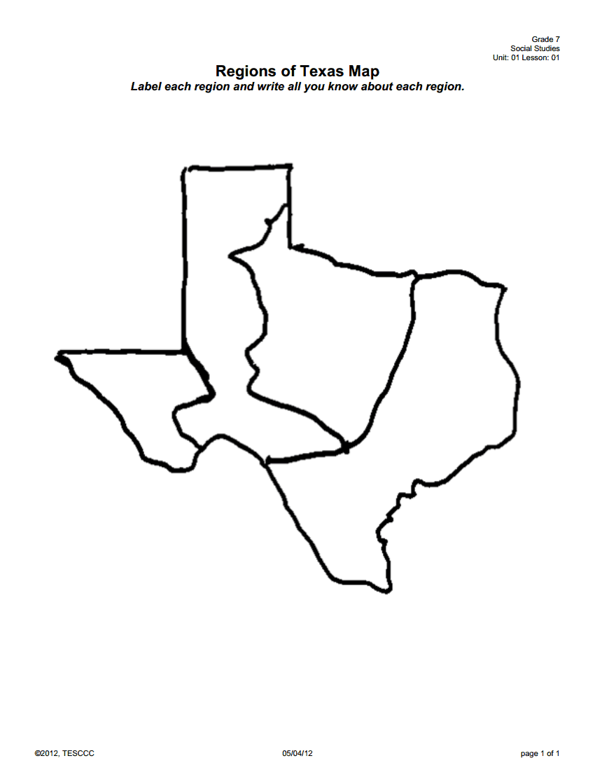 Regions of Texas - ThingLink