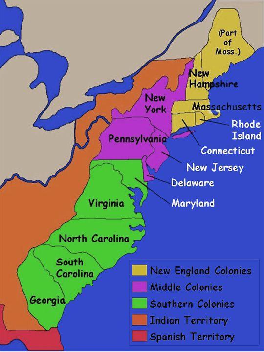 13 Colonies Map Thinglink 13 Colonies Map Thinglink