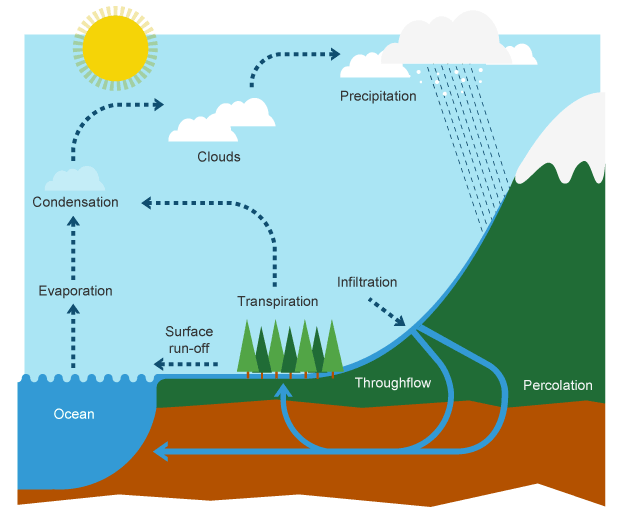 Odf The Water Cycle Diagram Introduction To Electrical Wiring